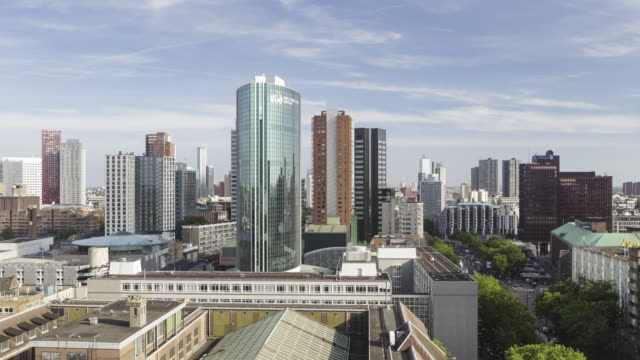 the skyline of the city of rotterdam. - rotterdam stock videos and b-roll footage