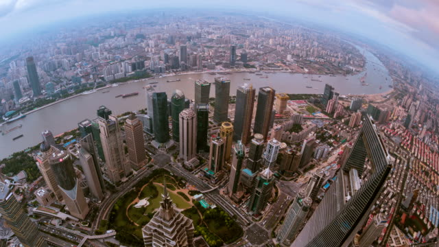 the skyline of the Huangpu River