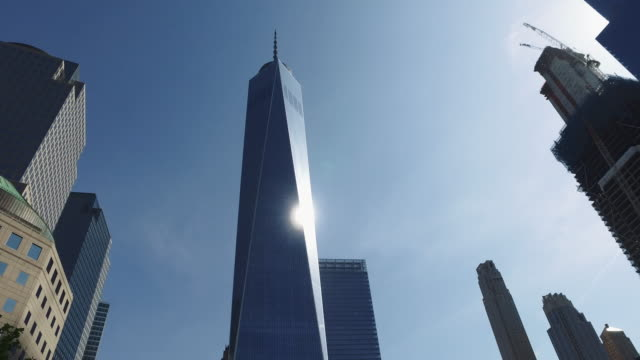 the skyscrapers of ny city: one world trade center - one world trade center stock videos & royalty-free footage