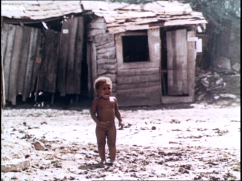 the slums of cuba / poor children living in squalor - west indies stock videos & royalty-free footage