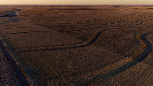 the small farm in the fields in kansas at sunrise - kansas stock videos & royalty-free footage