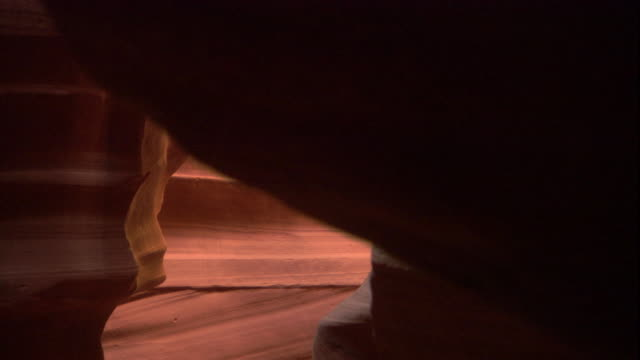 the smooth, undulating walls of a narrow slot canyon, utah. available in hd. - soft texture stock videos and b-roll footage