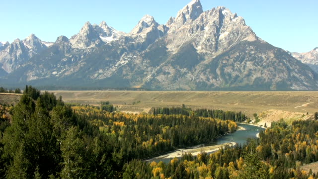 the snake river valley in wyoming - grand teton national park stock videos & royalty-free footage