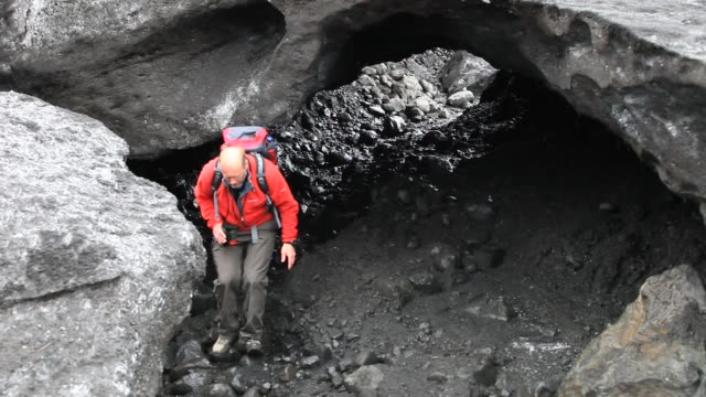 the snout of the solheimajokull glacier on the myrdalsjokull ice cap in iceland. it was melting rapidly due to climate change, but is now melting... - animal nose stock videos & royalty-free footage