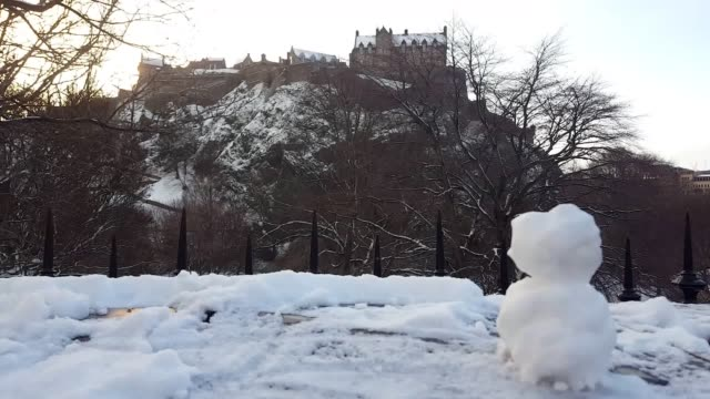 The snowfall in central and west Edinburgh Dozens of schools have been closed in some parts of Scotland while public transport has been disrupted by...