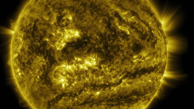 The Solar or Sun activity during the whole 2015 year (time lapse, part of a series)
