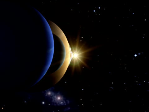 the solar system including pluto - solar system stock videos & royalty-free footage