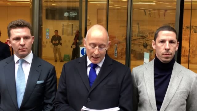 The solicitor of Christian and Nick Candy reads a statement on behalf of the brothers outside the Rolls Building following a judgement in their...