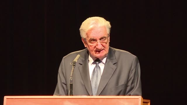 the son of croatia's first president criticised international justice at a packed a public memorial in zagreb on monday for bosnian croat war... - zagreb stock videos and b-roll footage