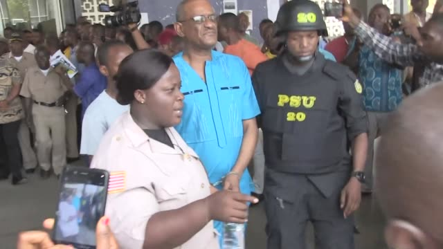 the son of former liberian president ellen johnson sirleaf charles sirleaf is charged by a monrovia court along with the former liberian central bank... - sabotage stock videos & royalty-free footage