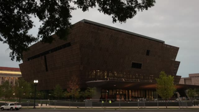 the soontobeopened smithsonian national museum of african american history and culture is seen september 1 2016 in washingotn dc the museum was... - smithsonian institution stock videos & royalty-free footage