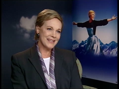 'the sound of music' singalong dvd released: julie andrews interview; england: london: int dame julie andrews interviewed sot - i've been raised to... - julie andrews stock videos & royalty-free footage