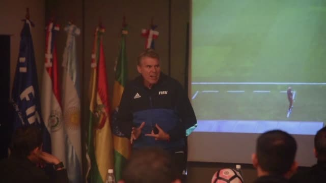 The South American Football Confederation holds a training course in video refereeing which the confederation will make use of for the first time in...