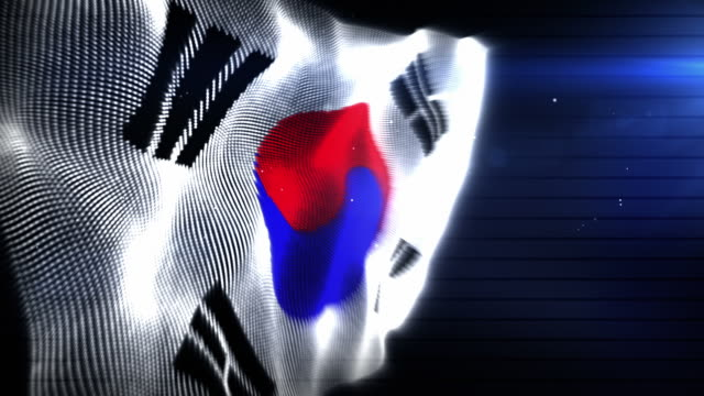 the south korean flag - background loop (full hd) - south korean flag stock videos & royalty-free footage