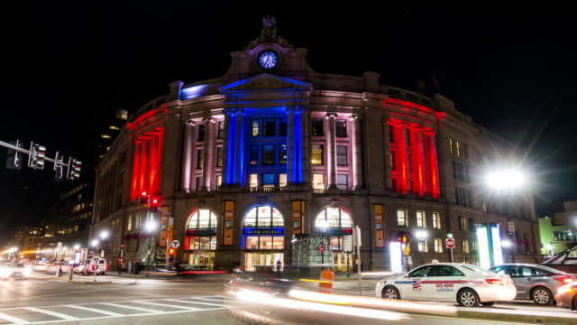 the south station in boston - boston massachusetts stock videos & royalty-free footage