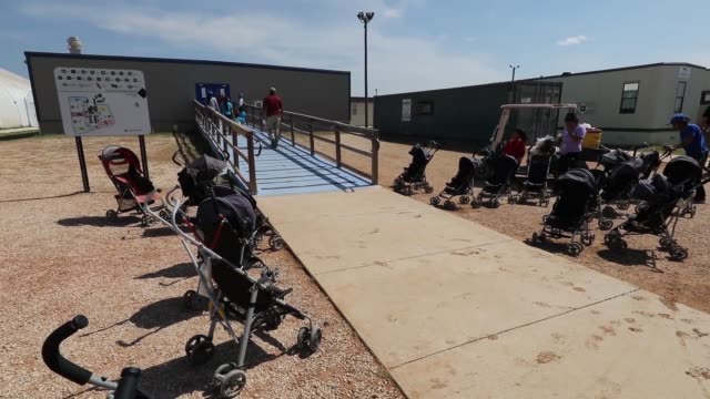 the south texas residential family center in dilley texas is the largest immigrant detention center in the united states and is intended to detain... - border patrol stock videos & royalty-free footage