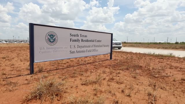 the south texas residential family center in dilley texas is the largest immigrant detention center in the united states and is intended to detain... - south america stock videos & royalty-free footage