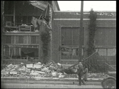 the southern california earthquake - 16 of 16 - 1933 stock-videos und b-roll-filmmaterial