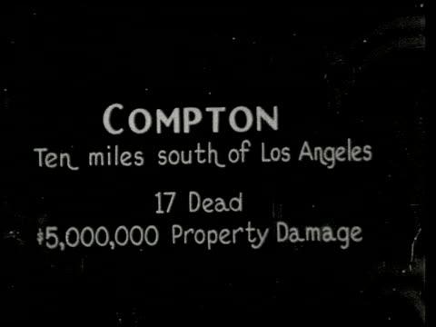 vídeos de stock e filmes b-roll de the southern california earthquake - 2 of 16 - veja outros clipes desta filmagem 2474
