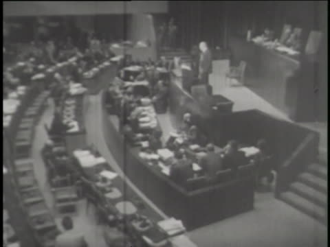 the soviets oppose the united states' proposal for a korean election commission at the united nations general assembly of 1947. - general election stock videos & royalty-free footage