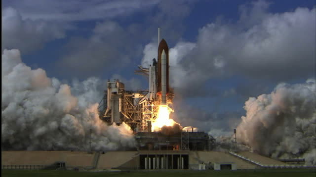 the space mission sts120 delivered the harmony module and reconfigured a portion of the iss for future assembly missions the mission was led by... - launch event stock videos & royalty-free footage