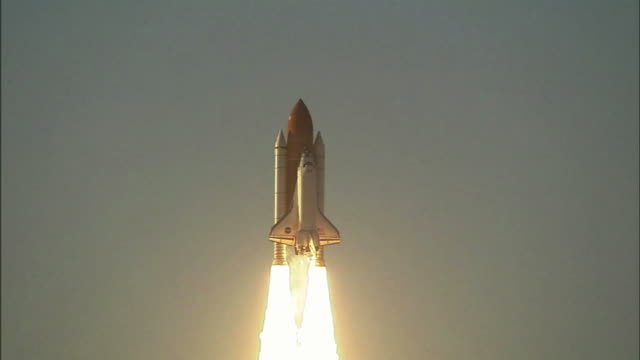 the space shuttle atlantis launches from cape canaveral to accomplish mission sts-117 . the launch of sts-117 marked the 250th orbital human... - space shuttle stock videos & royalty-free footage
