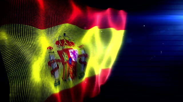 the spanish flag - background loop (full hd) - spanish flag stock videos and b-roll footage