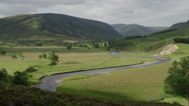 the spey valley in the scottish highlands - anhöhe stock-videos und b-roll-filmmaterial