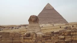 The Sphinx against the Pyramid of Khafre