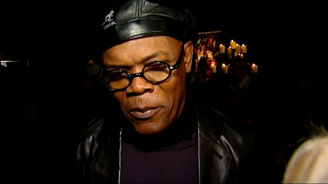 'The Spirit' launch party interviews Samuel L Jackson red carpet interview SOT On having a party before the film is released On seeing Scarlett...