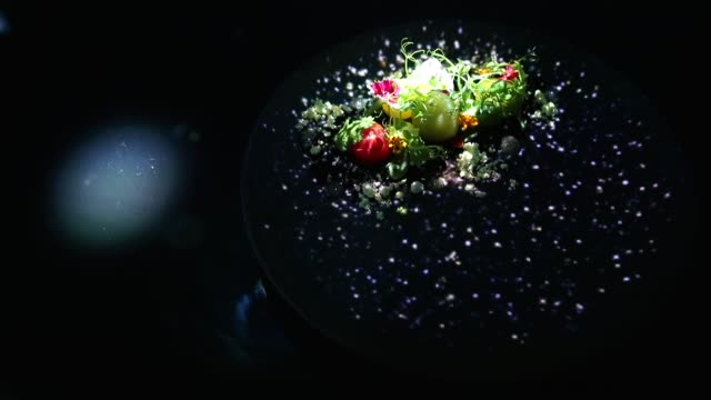 stockvideo's en b-roll-footage met the 'spur' dish is served in the main dining room of the tree by naked yoyogi park restaurant produced by naked inc on august 16 2018 in tokyo japan... - dining room