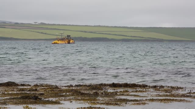 the sr2000 a wave energy device that produced 3gwh of power in its first year of testing off orkney scotland uk - fuel and power generation stock videos & royalty-free footage