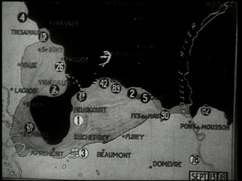 the st. mihiel drive - 7 of 8 - prima guerra mondiale video stock e b–roll