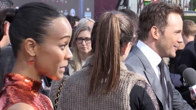 The stars of Guardians Of The Galaxy Vol 2 have insisted the film is 'bigger and better' than the original 2014 film Chris Pratt Zoe Saldana Kurt...