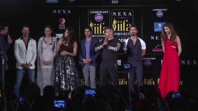 the stars of indian cinema gather in madrid for the international indian film academy the biggest night in bollywood cinema - bollywood stock videos and b-roll footage