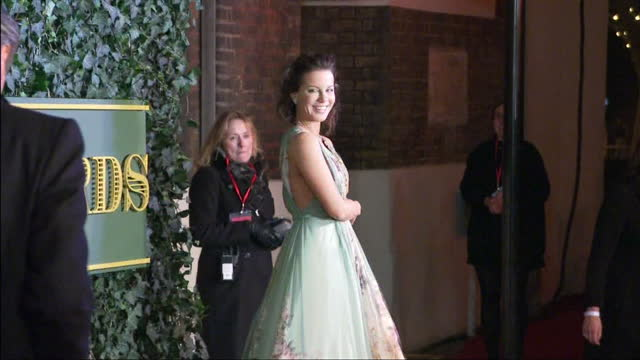 The stars of London's West End attend the Evening Standard Theatre Awards at the Old Vic Shows exterior shots Kate Beckinsale arrives poses for...