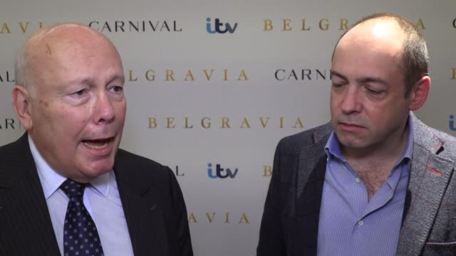 the starts of itv's newest drama belgravia speak about their reasons for wanting to work on the project, and julian fellowes' ability to write... - julian fellowes stock videos & royalty-free footage