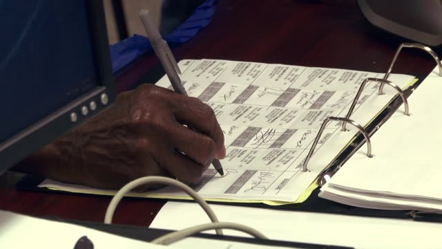 the state of ohio opened select polling places early ahead of the nov 8 2016 presidential election - polling place stock videos & royalty-free footage