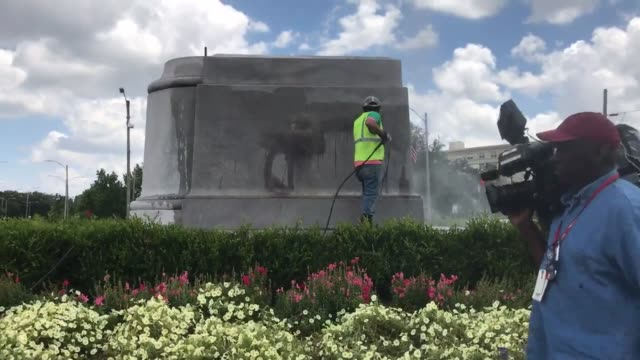 the statue of p g t beauregard has been removed from its site near the entrance to city park in new orleans, louisiana. the monument base has been... - monument stock videos & royalty-free footage