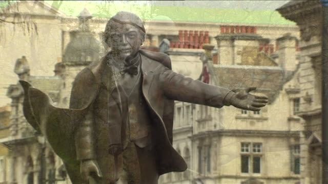 The statues of Sir Winston Churchill David Lloyd George Nelson Mandela and Mahatma Gandhi in Parliament Square