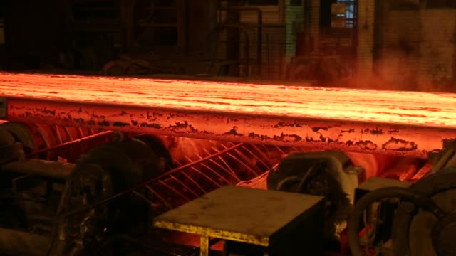 the steel manufacturing process at the zelezara smederevo doo steel plant in smederevo serbia on wednesday jan 21 2017 - alloy stock videos & royalty-free footage