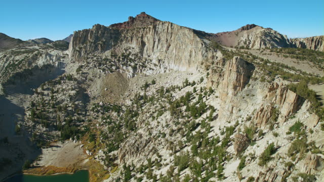 the steep cliffs of whitecliff peak located in the toiyabe national forest, california. - californian sierra nevada stock videos and b-roll footage