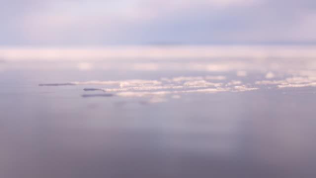 the steps on the ice. - sjö bildbanksvideor och videomaterial från bakom kulisserna