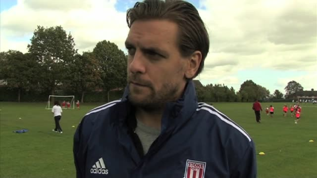 the stoke city centre back gives his opinion of sunderland ahead of stoke's premier league match. he also talks about stoke's potential on the... - interview raw footage stock videos & royalty-free footage