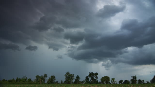 The storm clouds