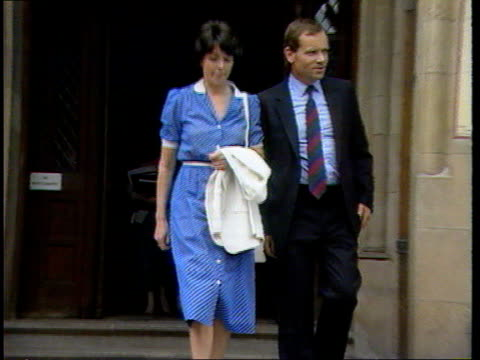 DAY 2 LIB The Strand Then Jeffrey Archer and wife Mary from court during libel action against the Daily Star which alleged he had slept with the...