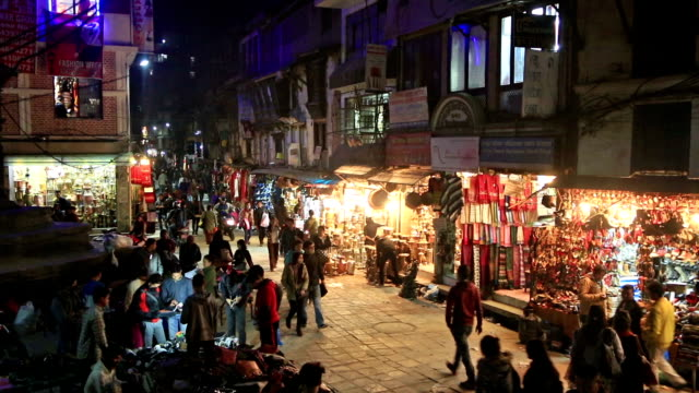 the street of kathmandu - street market stock videos & royalty-free footage