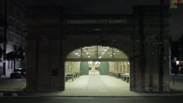 The streets of Charleston are empty after the city's mayor urged residents to evacuate the city