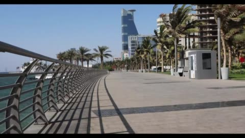 the streets of jeddah are nearly empty to limit the spread of the coronavirus in saudi arabia. the country has reported 274 covid-19 cases but no... - jiddah stock videos & royalty-free footage