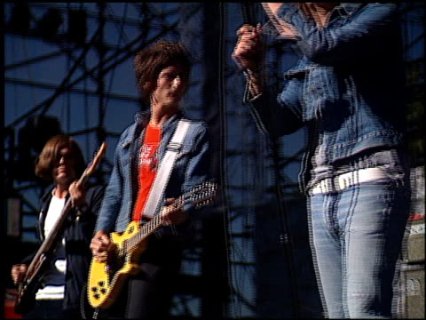 the strokes at the kroq's weenie roast on june 15, 2002. - kroq stock videos & royalty-free footage